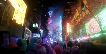 Times Meydanı'ndaki yeni yıl kutlamalarında 'basın özgürlüğü' vurgusu!