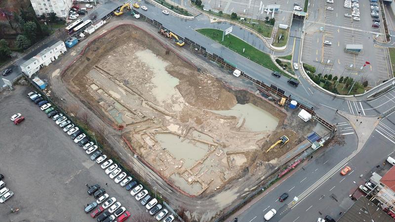 Kadıköy'de otel inşaatından tarih çıktı!