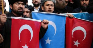 'Doğu Türkistan Anadolu'dur Ses Ver Türkiye' eylemi