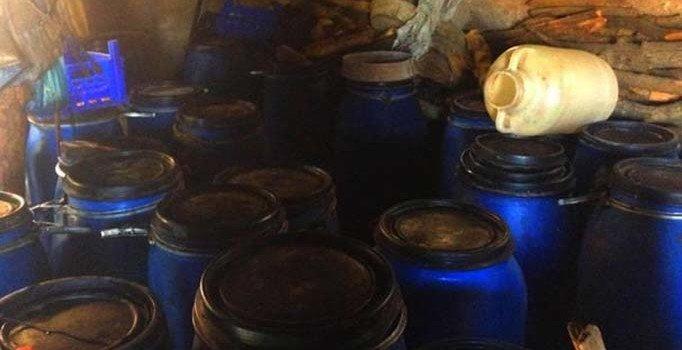 Çorum'da 5 bin 100 litre kaçak içki ele geçirildi
