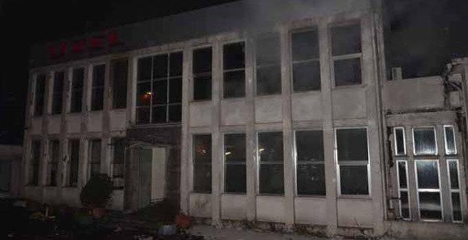 Eyüpsultan'da korkutan fabrika yangını