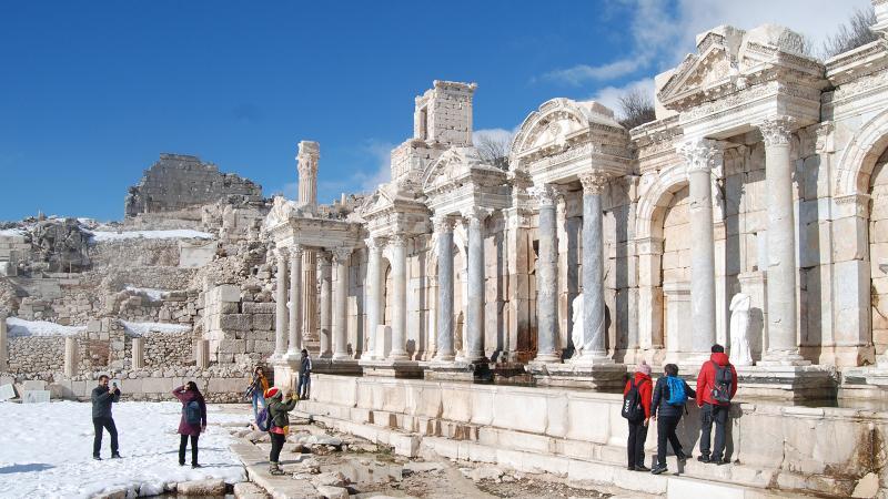 Kar altında tarih gezisi