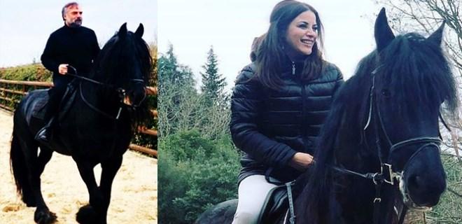 Oktay Kaynarca ve Zara'nın aynı günde at bindi