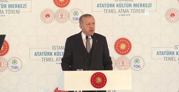 Erdoğan AKM'nin temelini atıyor