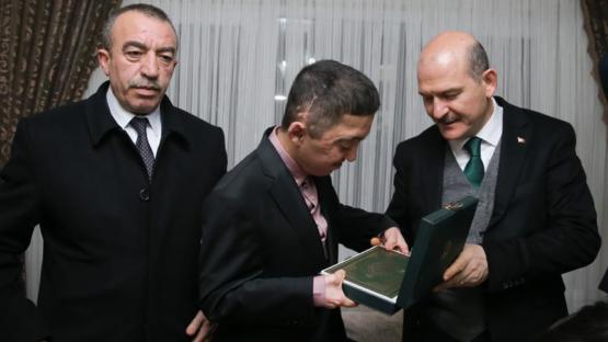 BAKAN SOYLU'DAN ŞEHİT AİLESİNE ZİYARET