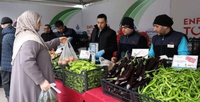 Tanzim satış noktalarında 297,7 ton sebze satıldı